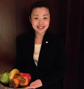 Jojo with fruit...