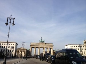 Look left, from room 218, to the Brandenburg Gate