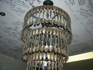 Spoon chandelier, TableOne, InterContinental Houston