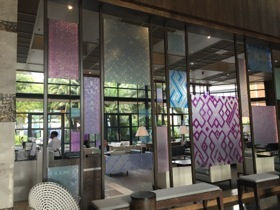 Looking through to the lobby lounge
