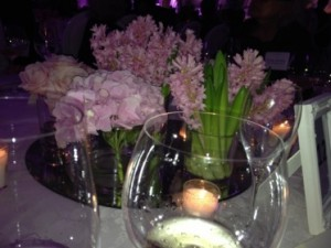 .. and flowers on the tables