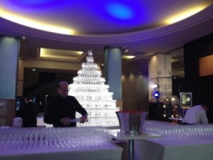 .. before the lobby was turned into a party venue