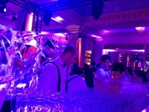 One bar area at the Majestic Barrière party