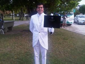 The meeter-greeter from Sofitel Santa Clara