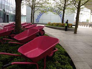Wheelbarrows at Heathrow