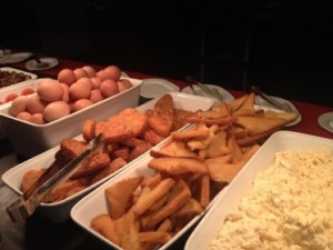 Part of the full-English at the Park Inn buffet