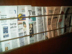 The array of daily newspapers is staggering in India