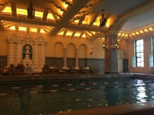 The hotel's historic swimming pool