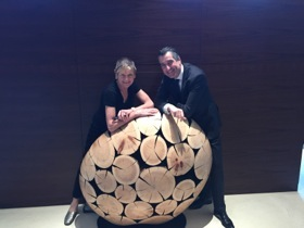 Hans Heijligers and a Jaehyo Lee wood ball