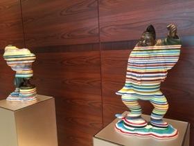 Recognisable stripes by sculptor Kyotara Hakamata