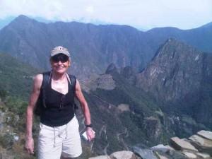 On top of the world, at Intipunku, above Machu Picchu ruins