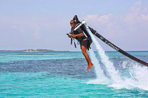 Jetpacking in the Maldives