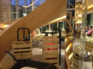 Section of the two-floor Café Liang….