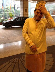 Doorman at Mandarin Oriental Kuala Lumpur