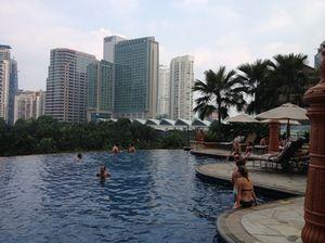 People in pool....