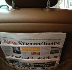 .. papers in car ...