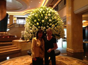 Dato' Rosemarie Wee, with flowers