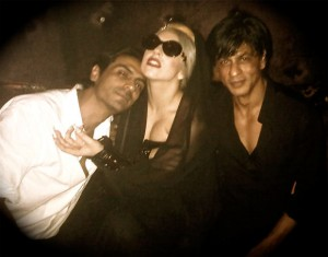 Lady Gaga - with Shah Rukh Khan