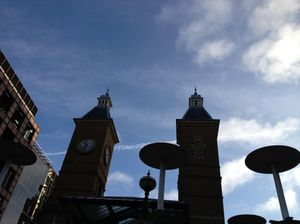 Clock tower at Liverpool Street