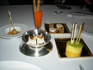 Dessert bites from Mandarin Oriental Las Vegas' Twist (Pierre Gagnaire)