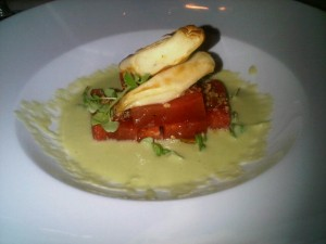 Luxury restaurants - Roma tomato terrine at Radii, Park Hyatt Melboune