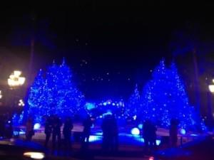 Monte-Carlo's festive trees go blue