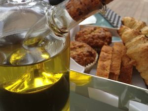 Organic breads, and olive oil