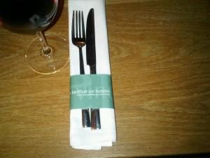 Paper napkin, Bonum vinum laetificat cor hominis (Good wine gladdens a person's heart)