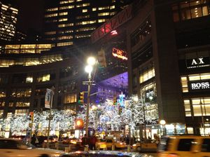 Columbus Circle and its Christmas lights