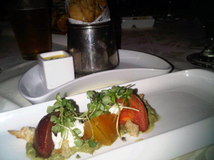 Heirloom tomato starter at Ojai