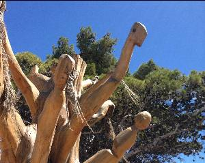 Dead trees turned into sculptures in Puerto Madryn Argentina