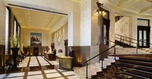The hotel's outer lobby