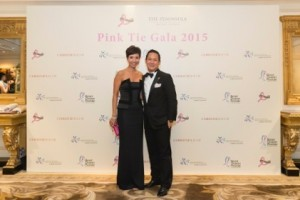 At the hotel's gala, GM Rainy Chan with Peninsula's Rob Cheng