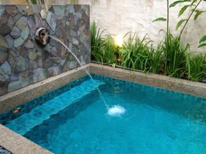 Villas all have proper swimming pools....
