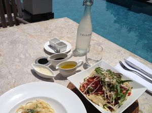 My poolside lunch