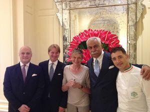 From left, Pietro Zanzot, Daniele Colombo, Marcel Levy, Fabbio Ciervo
