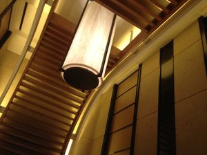 37th floor elevator lobby wall/ceiling