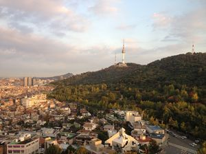 View up to Namsan Mountain