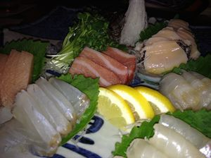 Sashimi platter for two