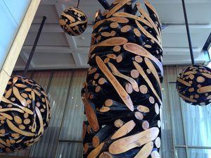 Jaehyo Lee's unique wood sculptures