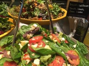 Healthy buffet salads