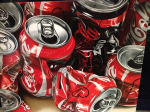Cans, on display at Art Apart