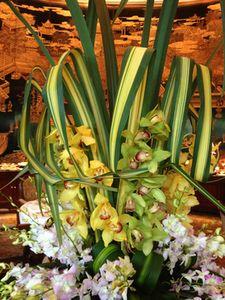 Flowers at the Summit Room breakfast buffet