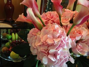 A former bouquet, now a display in room 1553