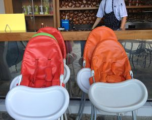 An army of kids' chairs