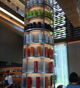 A column of jugs...