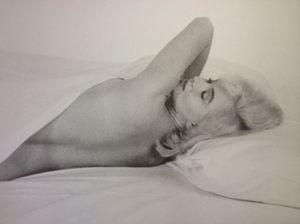 Marilyn, on a wall