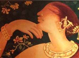 Flowers on a Jiva Spa painting