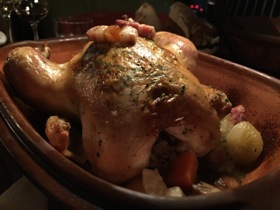 Good old-fashioned baked-in-pot roast chicken
