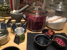 They can blend natural ingredients for a bespoke spa product